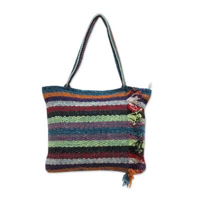 Colorful Handwoven Andean Wool Shoulder Bag