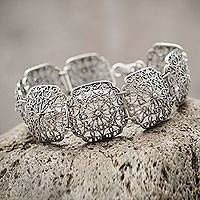 Featured review for Sterling silver flower bracelet, Sumak