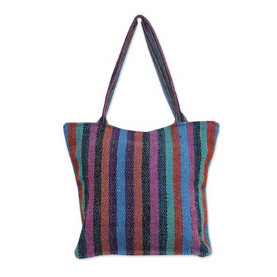 Novica Wool shoulder bag, Andean Rainbow