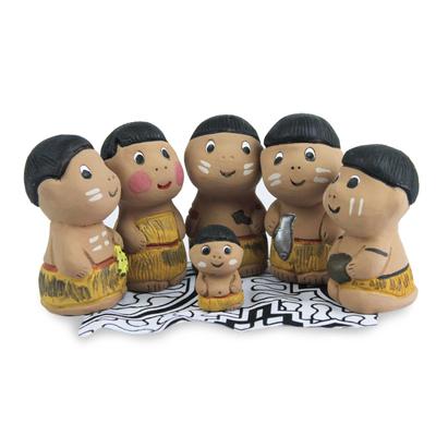 Christmas Amazonian Nativity Scene Figurines (Set of 6)