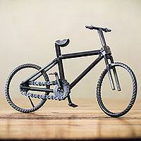 Recycled metal sculpture 'Big Bicycle' - Handcrafted Recycled Metal Bicycle Sculpture from Peru