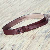 Featured review for Leather belt, Brown Qallu