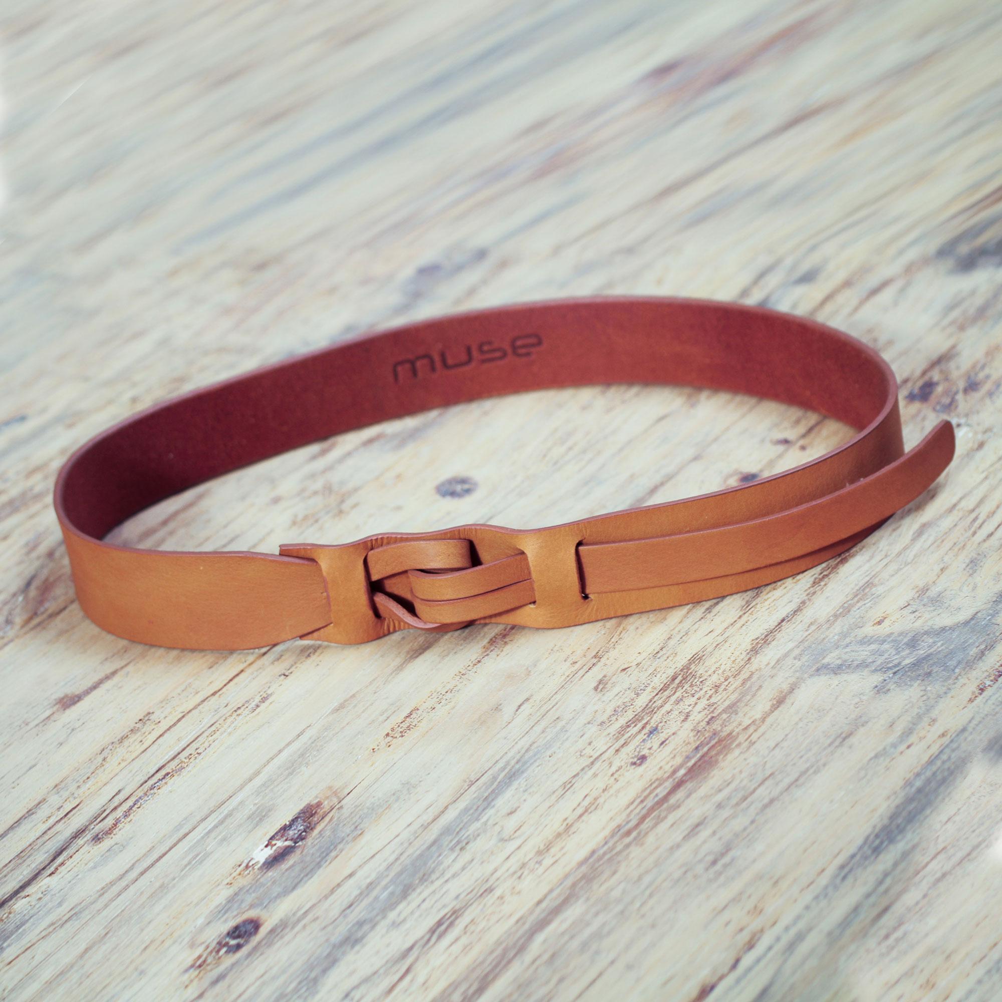 Women s Tan Brown Leather Belt Modern Design - Tan Qallu  65e14a5fe