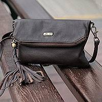 Leather shoulder bag, 'Versatile Vanguard' - Leather Shoulder Bag Double Pocket with Removable Strap