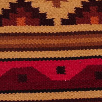 NOVICA 245823 History 2x3 Wool Rug 2 x 3 2 x 3