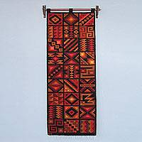 Wool tapestry, 'Calendar of the Ancestors' - Handwoven Inca Style Wool Tapestry from Peru