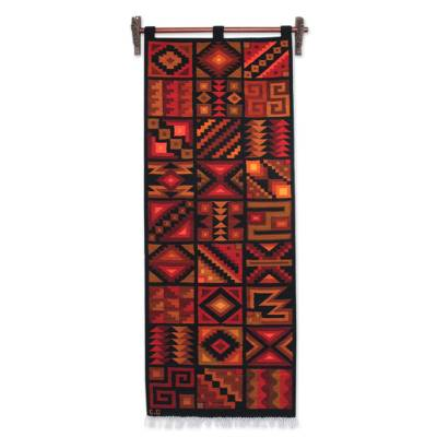 Handwoven Inca Style Wool Tapestry from Peru
