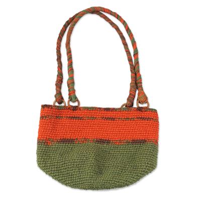 Novica Handbag, Tangerine