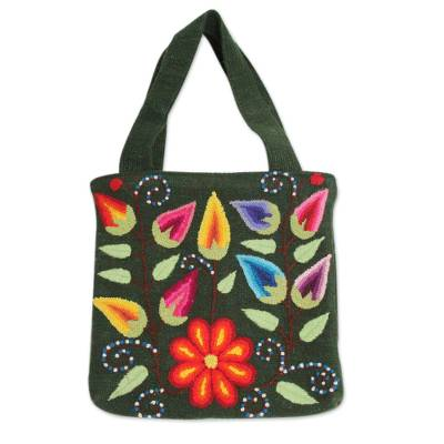 Artisan Crafted Wool Embroidered Shoulder Bag