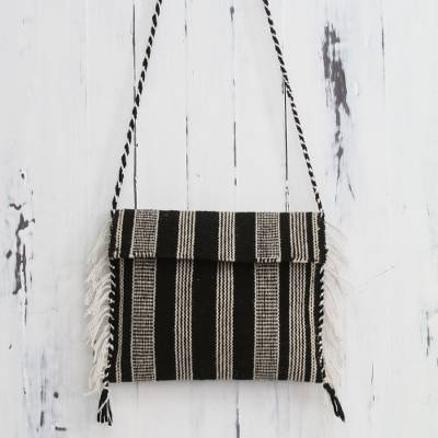 Wool shoulder bag, Andean Roads
