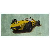 'Fast' (2014) - Hyper Real Oil Painting of a Classic Race Car