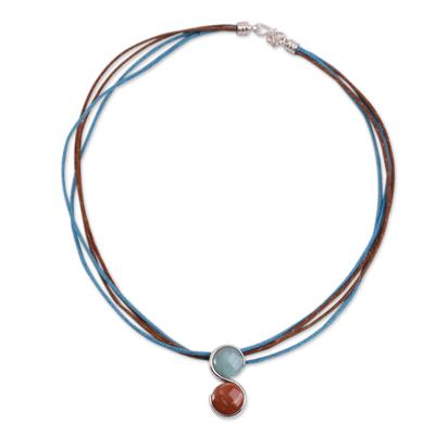 Jasper and Amazonite Peru Zodiac Necklace for Aries