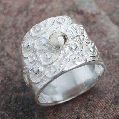 ebay silver necklaces women jewelry - Peruvian Sterling Handcrafted Band Ring for Women