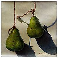 'Pears' - Original Signed Peruvian Painting of Pears