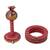 Dried gourd desktop ring toss set, 'Pirate Owl' - Pirate Owl Dried Gourd on Desktop Ring Toss Set (image 2b) thumbail