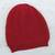 100% alpaca hat, 'Crimson Honeycomb' - Trendy and Warm Red Alpaca Wool Hat Knitted in Peru (image p257781) thumbail