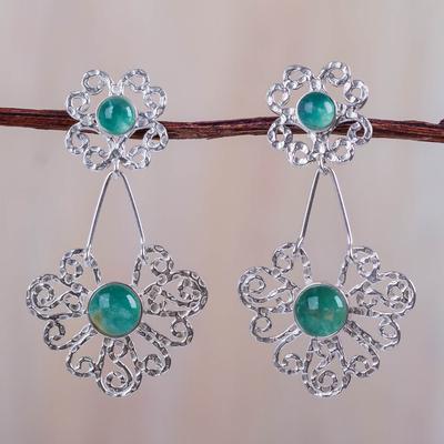 Sterling Silver Andean Opal Earrings
