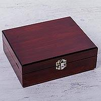 Recycled wood jewelry box, 'Minimalist Jewel' (3 inch height) - Hand Crafted Recycled Wood Jewelry Box (3 Inch Height)