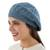 100% alpaca beret, 'Azure Leaves' - Women's Blue Beret Hat Knitted by Hand in 100% Alpaca Wool (image 2a) thumbail