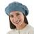 100% alpaca beret, 'Azure Leaves' - Women's Blue Beret Hat Knitted by Hand in 100% Alpaca Wool (image 2b) thumbail