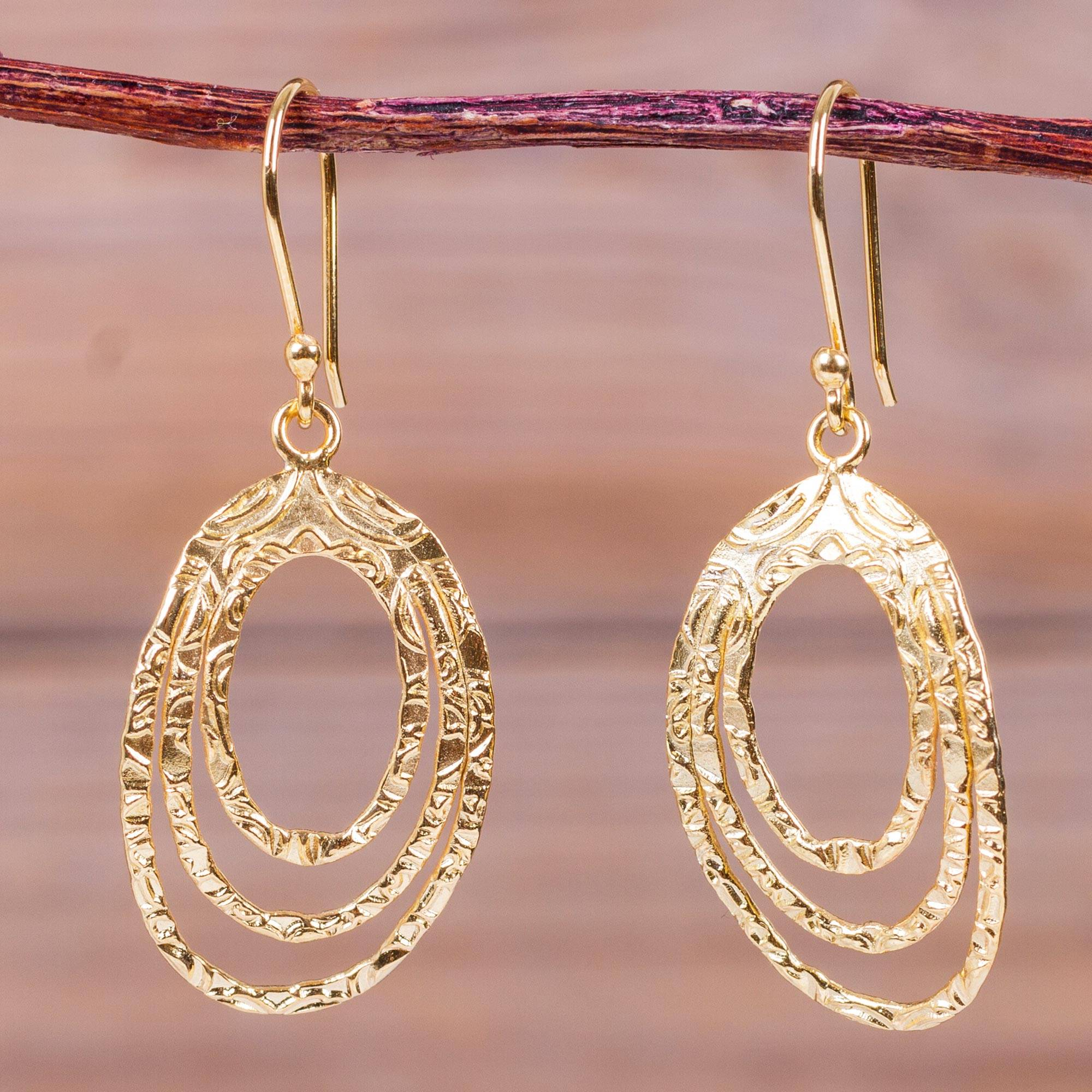 Modern Gold Plated Earrings Peru