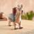 Ceramic decorative vessel, 'Moche Llama' - Handcrafted Ceramic Moche Replica Llama Sculpture from Peru thumbail