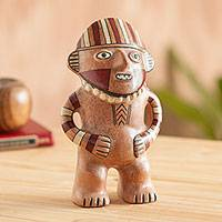 Ceramic sculpture, 'Viru Effigy' - Hand Crafted Ceramic Pre-Inca Effigy Replica from Peru