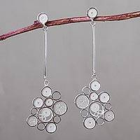 Sterling silver dangle earrings, 'Filigree Clouds' - Artisan Crafted Andean Silver Filigree Dangle Earrings