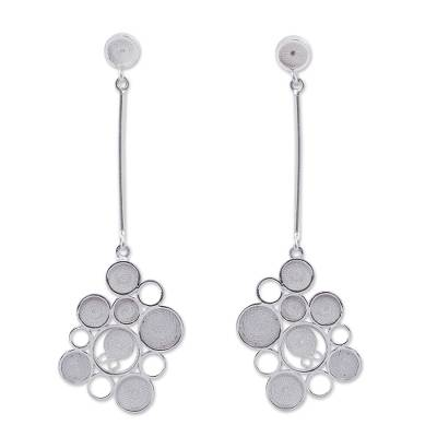 Artisan Crafted Andean Silver Filigree Dangle Earrings