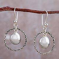Sterling silver dangle earrings, 'Shimmer and Twist' - Peruvian Sterling Silver Dangle Earrings