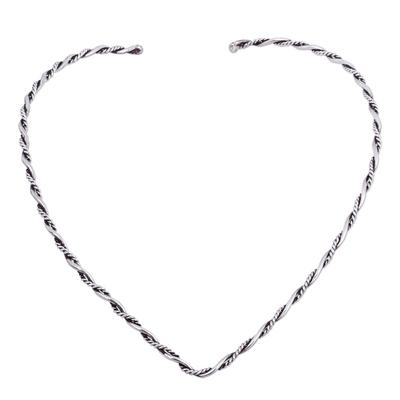 Sterling Silver Choker Necklace Modern Artisan Jewelry