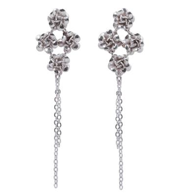 925 Sterling Silver Rose Earrings Peruvian Jewelry