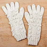 100% baby alpaca gloves,