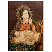 'Our Lady of Silence' - Our Lady of Silence Painting Religious Christian Art