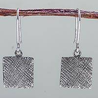 Sterling silver dangle earrings, 'Myriad Paths' - Artisan Crafted 925 Sterling Silver Earrings from Peru