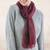 Alpaca blend scarf, 'Cherry Grape' - Warm Red Floral Jacquard Alpaca Blend Scarf (image 2) thumbail