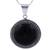 Obsidian pendant necklace, 'Moon Over Lima' - Sterling Silver Pendant Necklace with Andean Obsidian (image 2b) thumbail