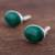 Chrysocolla cufflinks, 'Oval Green' - Sterling Silver and Chrysocolla Cufflinks from Peru (image 2c) thumbail