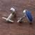 Sodalite cufflinks, 'Oval of Blue' - Sterling Silver and Sodalite Oval Cufflinks from Peru (image 2b) thumbail