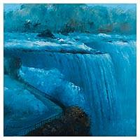 'Niagara' (2015) - Signed Oil Painting of Niagara Falls