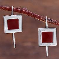 Jasper drop earrings,