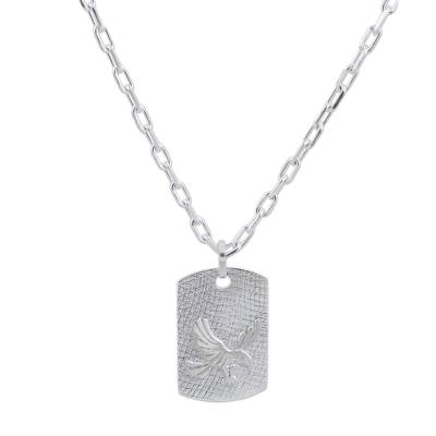 Sterling silver pendant necklace, 'Strong Eagle' - Sterling Silver Pendant Necklace Eagle Shape from Peru