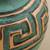 Copper and bronze decorative vase, 'Andean Character' - Copper and Bronze Decorative Vase Green from Peru (image 2c) thumbail