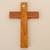 Chrysocolla and copper wall cross, 'Chrysocolla Cross' - Chrysocolla Copper Bronze Wood Cross Wall Decor from Peru (image 2c) thumbail