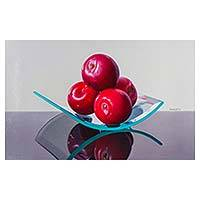 'Moon Cradle' - Original Signer Hyper Real Red Apple Still Life
