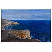'Marine Sounds' (2016) - Signed Seascape Painting of Inspiring Panoramic Ocean View