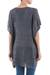 Knit tunic, 'Grey Dreamcatcher' - Grey Short Sleeve V Neck Tunic from Peru (image 2c) thumbail