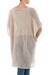 Knit tunic, 'Beige Dreamcatcher' - Beige Tunic with V Neck and Short Sleeves (image 2c) thumbail