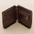 Leather wallet, 'Strong' - Brown Leather Wallet with Zipper from Peru (image 2b) thumbail