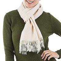 100% baby alpaca scarf, 'Lovely Buff' - 100% Baby Alpaca Wool Buff Scarf from Peru